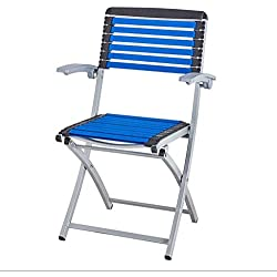 MSNDIAN Klappstuhl Schachstuhl Mahjong Stuhl Gummiband Stuhl Gesundheit Stuhl Freizeit Stuhl Bürostuhl Computerstuhl Einfacher Klappstuhl (Farbe : Blau)