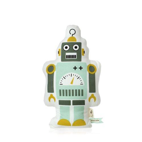 Ferm Living Kissen Roboter Mr. Small Robot Cushion aus Bio Baumwolle