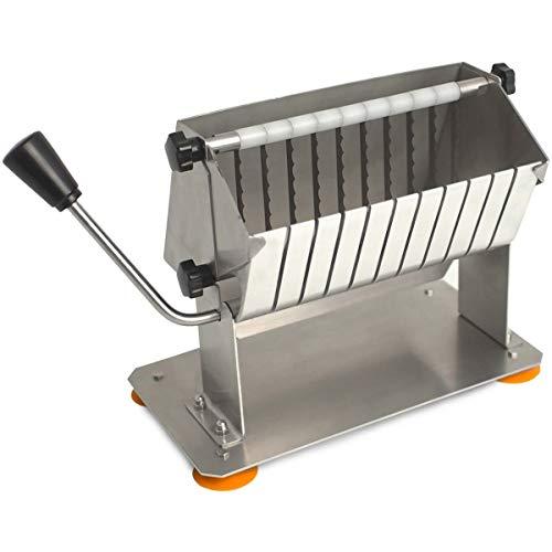Currywurstschneider manuell - 10 Messer - Wurstschneider - Hand Currywurstschneider