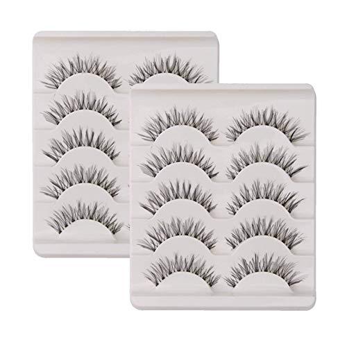10 Paar Falsche Wimpern Natürlich Lange 3D 100 % Handgefertigte Künstliche Wimpern Verlängerung Schwarz (Falschen Wimpern Anwenden Von)