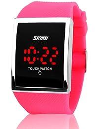 E9Q Hombres Mujeres Casual Silicona LED táctil reloj deportivo reloj electrónico