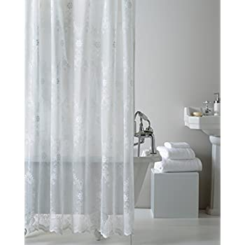 white lace shower curtain. Lace Shower Curtain, White Curtain E