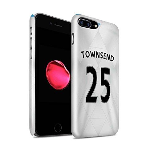 Officiel Newcastle United FC Coque / Clipser Brillant Etui pour Apple iPhone 7 Plus / Townsend Design / NUFC Maillot Extérieur 15/16 Collection Townsend