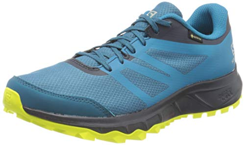 Salomon Trailster 2 GTX, Zapatillas de Trail Running para Hombre, Azul (Lyons Blue/Navy Blazer/Evening Primrose), 45 1/3 EU