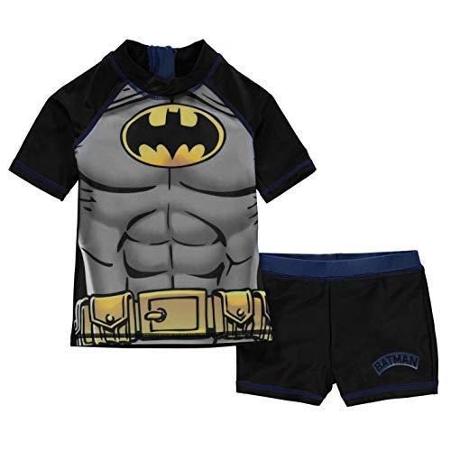 hwimmset Kleinkinder Junior Jungen Bademode Baden Kostüm Tenue De Plage - Schwarz - Batman, 7-8 Years ()