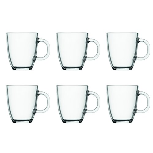 Bodum Bistro - Set de 6 tazas de cristal, 0,35 l, transparentes