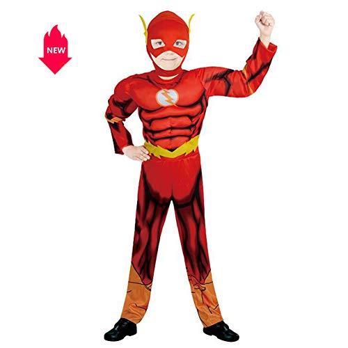 �me für Kinder Neue Muscle-Lightning-Bühnenkostüme mit Kopfbedeckungen,L ()