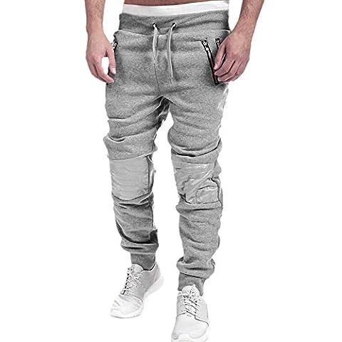 CHIC-CHIC Homme Pantalon de sport/jogging Sarouel Fitness Loose Crotch pantssurvêtement