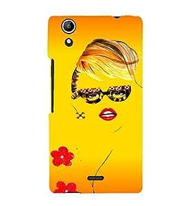 PrintVisa Beautiful Girl Design 3D Hard Polycarbonate Designer Back Case Cover for Micromax Canvas Selfie Lens Q345