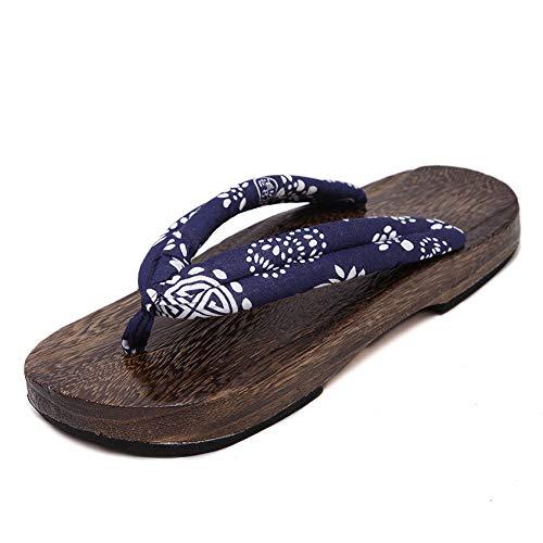 Kostüm Holz Elf - DAIDAITX Hausschuhe Sommer Mann Sandalen Holz Hausschuhe Paulownia Clogs Einheimische Schuhe Runde Kappe Kostüm Flats Flip Flops