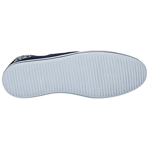 Henleys Chaussures Plates Toile, Baskets, Chaussures, Tennis Bleu - Navy-White