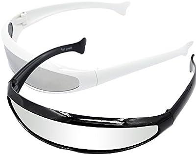 Marco futurista de PC adultos espejo lente gafas de sol fiesta disfraces divertidos accesorios gafas