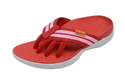 1ee1a7bd7bc1 Wellrox Women s Evo-Casey Red Pink Casual Sandal 10