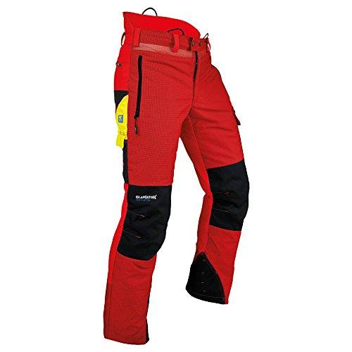 """Pfanner 101761/2XL Schnittschutzhose\""""Ventilation\"""" Größe XXL in rot/schwarz,"""