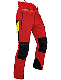 Pfanner 101761/2XL Gladiator Ventilation Pantalon anti coupure, Rouge/noir, XXL