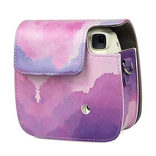 Tragbare und praktische Kameratasche Schutzhülle Kompatibel mit Polaroid Mini8 / 8 + / 9, Premium PU-Leder Aufbewahrungstasche for Sofortbildkameras, Passgenau Umfassend kratzfest Kameratasche für Dig