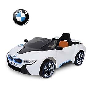 BMW i8 voiture véhicule électrique pour enfants quad cabriolet 3-8ans 2 moteurs 12V télécommande blanc neuf