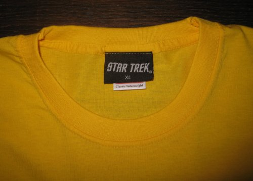 (Star Trek Crew T-Shirt Command Destination London (X-Large, Gold))