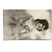 1924 Vicenza foto ragazza fiori interessante affrancatura FP B/N VG Cartolina Postale - Foto Cartolina Postale