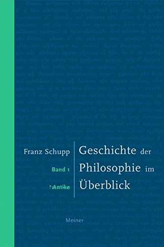 Geschichte der Philosophie im Überblick. Band 1: Antike