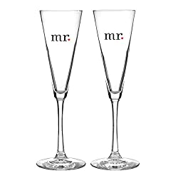 Hortense B. Hewitt Wedding 24494 Accessories Together at Last Champagne Flutes (Set of 2)