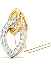 PC Jeweller The Letitia 18KT Yellow Gold & Diamond Pendant