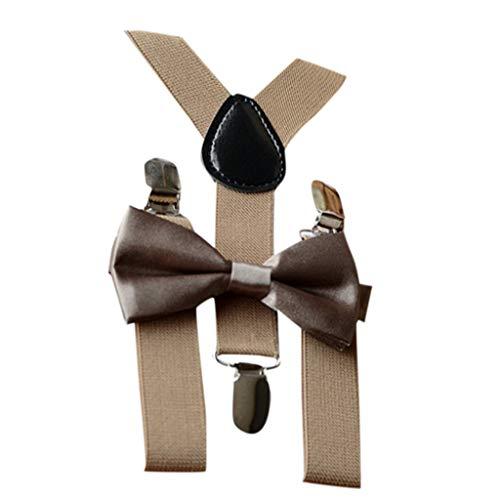 Mitlfuny Unisex Baby Kinder Jungen Zubehör Säuglingspflege,Kinder Baby Mädchen verstellbare Hosenträger elastische Hosenträger und Fliege Set