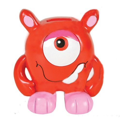 55-handmade-ceramic-one-eyed-monster-coin-bank-red-or-blue-cute-fun-ages-6-red-with-pink-by-rockymar