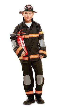Mom costume vestito abito travestimento carnevale bambino pompiere, vigile del fuoco, sam - taglia 5/6 anni