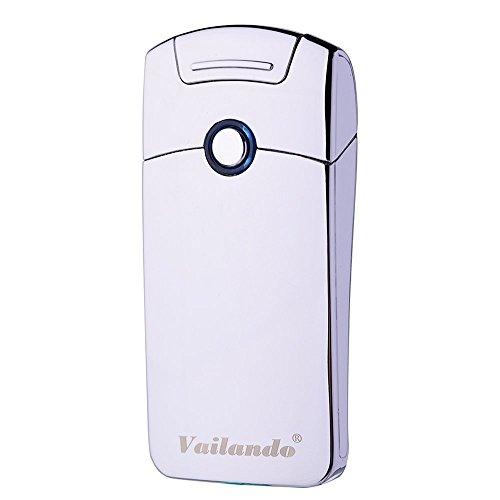USB Wiederaufladbares Windbest&aumlndiges Zigarette Arc Feuerzeug (Silver)