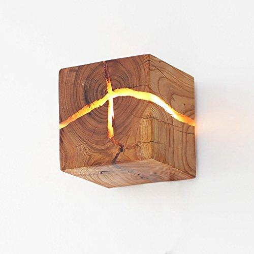 Hölzerne Riss Wand Lampen, Massivholz LED Nachttisch Lampen Gang helles Dekoration-Nachtlicht -