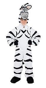 Bristol Novelty CC607 Traje de Zebra, Negro, Mediano, 128 cm, Edad aprox 5 - 7 años