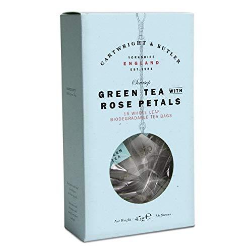 Cartwright & Butler Soursop Green Tea with Rose Petals Carton Whole Leaf Pyramid Tea Bags 45g