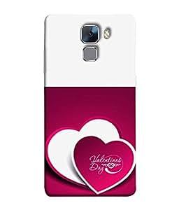 PrintVisa Designer Back Case Cover for Huawei Honor 7 :: Huawei Honor 7 (Enhanced Edition) :: Huawei Honor 7 Dual SIM (Valentines Day Wow Design)