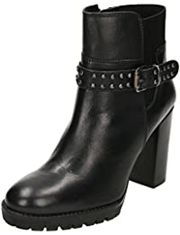 6bc5b67f43b9 Ravel Whatley Leather Heeled Ankle Boots Black