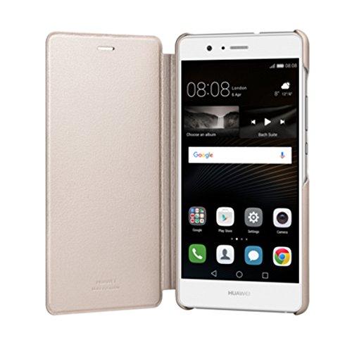 Huawei - Étui de portable - Étui à rabat/Huawei P9 Lite - D'or (Ref: 51991528)