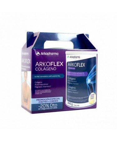Arkoflex Colágeno Duplo 2x360g 20{fdec04a8bca9bb08665fdc1326875d094b4ec7d905a124dd7a88227ea96f759e} dto 2ªu Sabor Limón