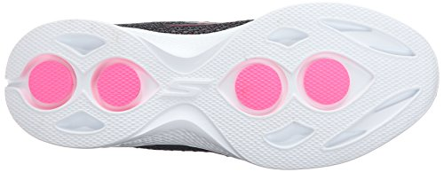Skechers Gowalk 4 Exceed, Baskets Basses Femme Black/Hot Pink