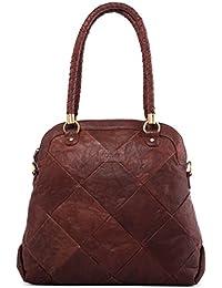 LEABAGS BayBay sac à main rétro-vintage en véritable cuir de buffle