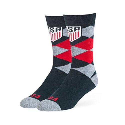 Weltmeisterschaft Vereinigten Staaten OTS Blaine Kleid Socke, groß, unisex - erwachsene, World Cup Soccer United States OTS Blaine Dress Sock, Large, navy, Large (Essential Knit Kleid)