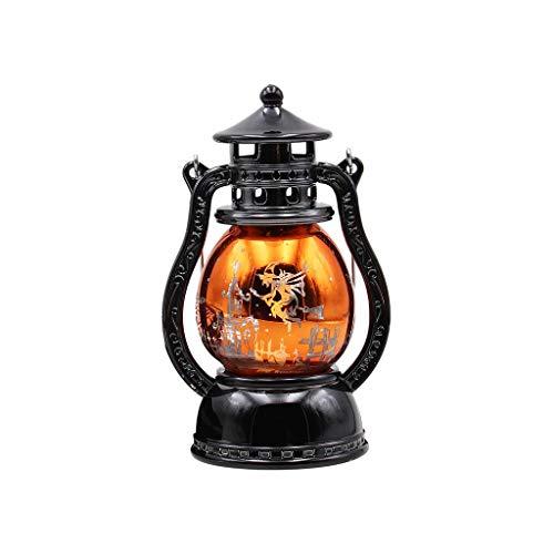 XINAINI Halloween KüRbis Licht Hexe Licht Tragbare Kleine ÖLlampe Nachtlicht Dekoration Vintage Hexe Schloss Kreative Nachtlichter Dekoration Weihnachten Neujahr -