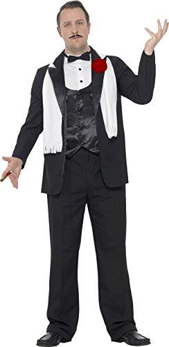 Smiffys 24468XXL - Herren Gangster Kostüm, Größe: XXL, -