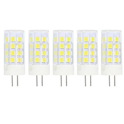 5er Pack G4 LED Lampe Birne G4 LED Lampen Leuchtmittel 5W 380 Lumen [Ersetzt 40W Halogen, AC/DC 12V, Kaltes Weiß 6000K,360° Abstrahlwinkel G4 LED Leuchtmittel Transparenten Keramik -