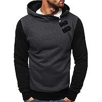 Rosennie Herren Herbst Sweatshirt Pullover mit Kapuzen Beiläufiger Reißverschluss Knopf Outwear übersteigt Bluse... preisvergleich bei billige-tabletten.eu