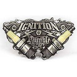 Rumble59 - Hebilla de cinturón - Hombre Plateado plata Talla única
