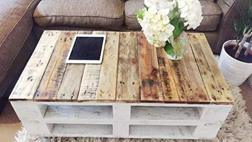 Mesa de palets de madera con ruedas - Mesita Auxiliar & Centro...