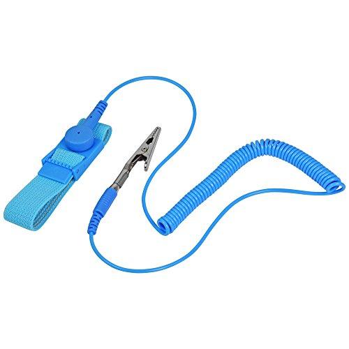 Bracelet anti-statique à la terre bracelet antistatique - éviter l'électricité statique et plastes conducteurs et caoutchouc pour un contrôle statique et blindage EMI