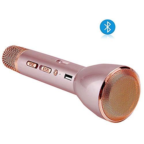 Karaoke mikrofon,Bluetooth Lautsprecher Portable KTV Player Mini Home KTV Musik Spielen und singen Maschine System, für iPhone/Android Smartphone/Tablet