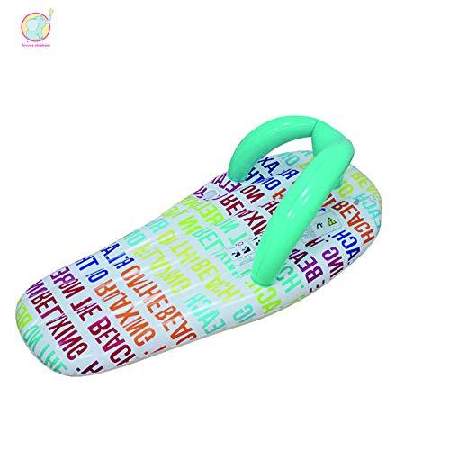 JINYIWEN Schwimmring 150 cm Aufblasbare Brief Muster Pantoffel Pool Schwimmen Boje Schwimmen Kreis Luftmatratze Wasser Spielzeug Erwachsene Strand PartySchuhe