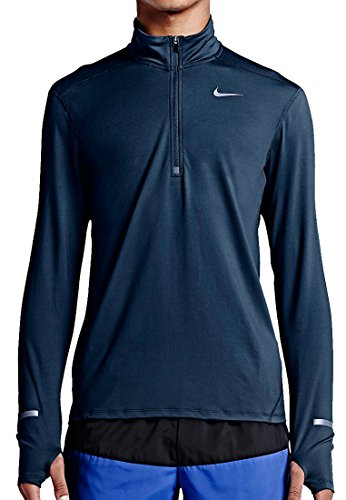 Dri-Fit Element Half Zip Running Top - Squadron Blue